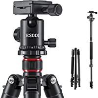 "ESDDI Camera Tripod, DSLR Tripod with 360° Ball Head, 64"" Aluminum Tripod with Monopod 1/4"" Quick Release Plate and…"