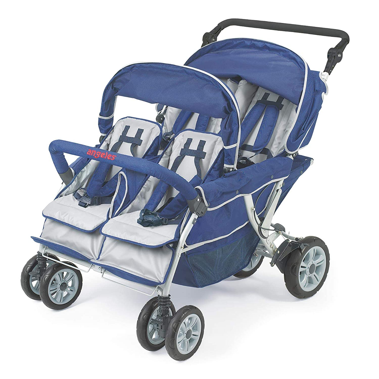 Children s Factory Surestop Folding Commercial Bye-Bye Stroller, 4 Passenger