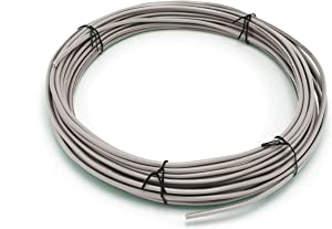Grey/Gray THHN Wire - 10 AWG - 50 Feet - Solid Copper Grounding Wire, Proudly Made in America - Ground Protection Satellite Dish Off-Air TV Signal - UV Jacketed Antenna Electrical Shock