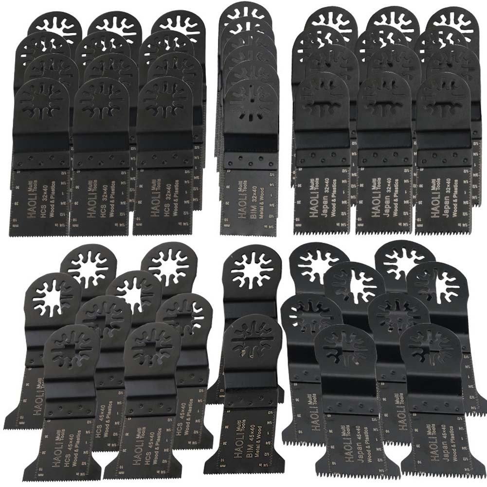 HAOLI 48 pcs/set Oscillating Tool Saw Blades For Fein Multimaster,Dremel,Bosch,Makita,Einhell,Skil (Not valid for Bosch star lock) (HL48-1(48pcs))