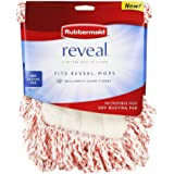 Rubbermaid 1M20 Reveal Mop Dry Dusting Cleaning Pad, 15-Inch, White/Red