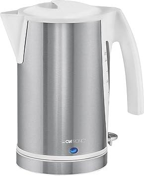 Clatronic WKS 3288 - Hervidor de agua eléctrico 1,7 litros, recipiente acero inoxidable