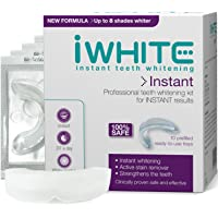 iWhite Clinically Proven Safe Instant Teeth Whitening Kit for Active Stain Removal (8 Shades Whiter, 10 Trays)