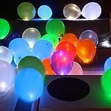 Trendario 15 LED leuchtende Luftballons - schöne Ballons für die Party, Geburtstag, Hochzeit, Festival inklusive Batterien