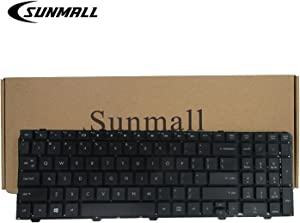 SUNMALL New Laptop Keyboard for HP ProBook 4540s 4540 4545s Series Compatible with Part Number 702237-001 683491-001 701485-001 Black US Layout