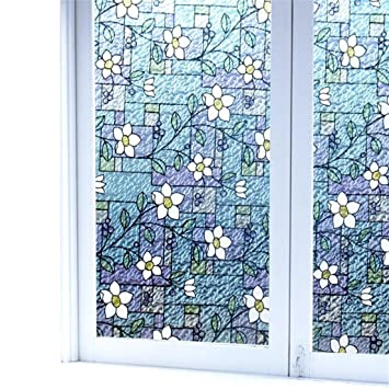 decorative window film stained glass pattern printable viclover stained glass window film nonadhesive static vinyl films privacy decorative clings amazoncom