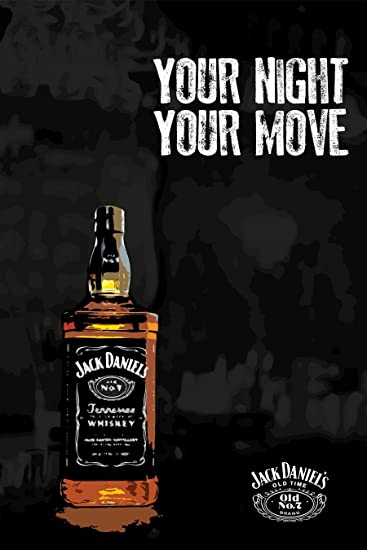 Amazon.com: Jack Daniels Poster - Your Night, Your Move Poster ...