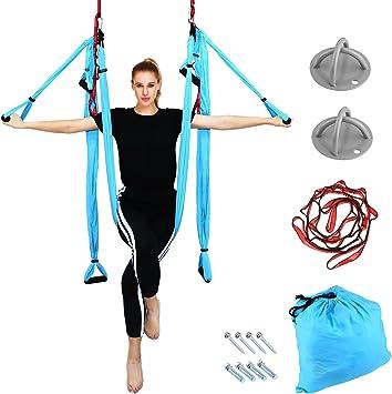 Amazon.com : Aerial Yoga - Yoga Swing/Hammock/Trapeze Set ...