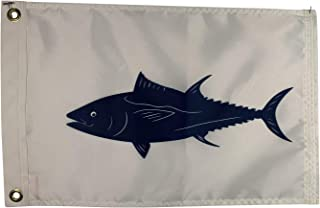 product image for 12x18 Tuna Boat Fishing Flag,Durable All-Weather Nylon with Grommets for Outdoors, Made in USA