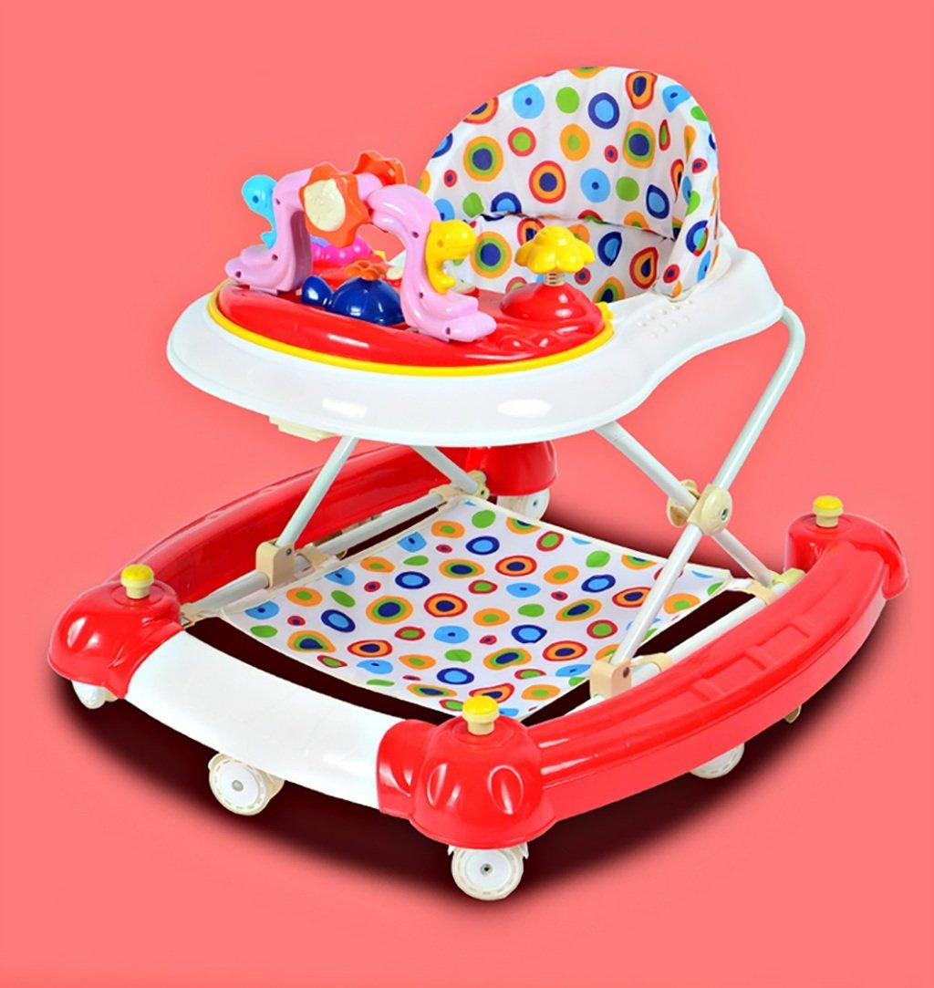 Baby-Wanderer Baby-Walker 7-18 Monate Baby-Anti-Rollover Drei-Gang-Einstellung Multifunktionaler Musik-Walker U-faltbarer Walker ( Farbe   C )
