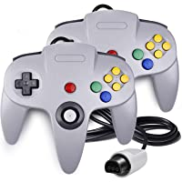 QUMOX 2x Game Controller Joystick for Nintendo 64 N64 System GamePad Grey