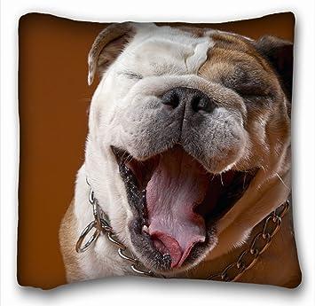 tslook manta mantas perro Rostro ojos Bulldog manta de forro polar para sofá/sofá/