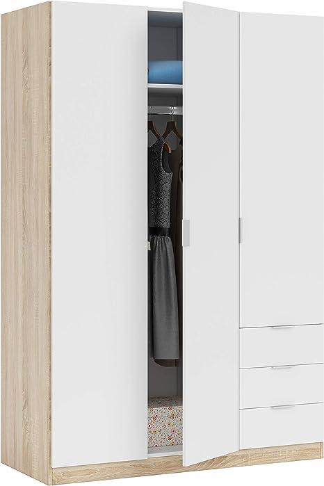 Habitdesign LC1323F - Armario ropero de Tres Puertas y Tres ...