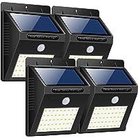 Luce Solare Esterno,Trswyop 40 LED [4 pezzi] Lampada Solare con Sensore di Movimento Luci Solari Parete Wireless Solare Led Impermeabile Lampada di Sicurezza per Giardino,Patio