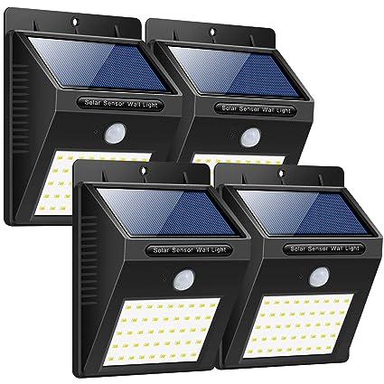 Luces Solares Jardín, Trswyop Focos Solares 40 LED Lámparas Solares Exterior con Sensor de Movimiento