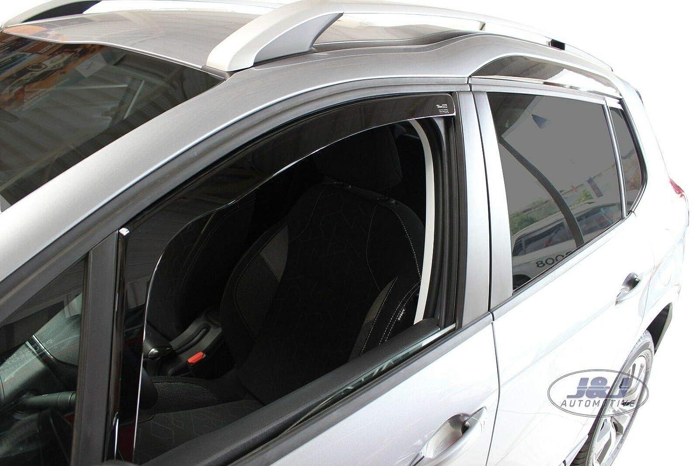 J/&J AUTOMOTIVE Deflecteurs dair D/éflecteurs de Vent Compatible avec Peugeot 2008 5 Portes 2013-pr/és 2pcs