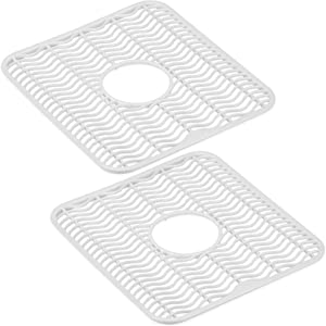 DecorRack 2 Sink Protectors, 12 x 11 inches Each, Kitchen Sink Dish Rack, Protect Sink from Stains, Damage, Scratches, Dishwasher Safe Sink Grid for Kitchen (2 Pack)