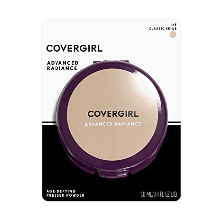 CoverGirl Advanced Radiance Age-Defying Pressed Powder, Classic Beige 115 , 1 ea Pack of 5