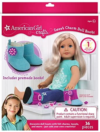 Amazon Com American Girl Crafts Sweet Charm Boots Diy Girls