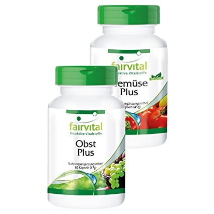 Fruta y verdura Plus - 120 cápsulas - vegano - polvo de fruta y verdura de