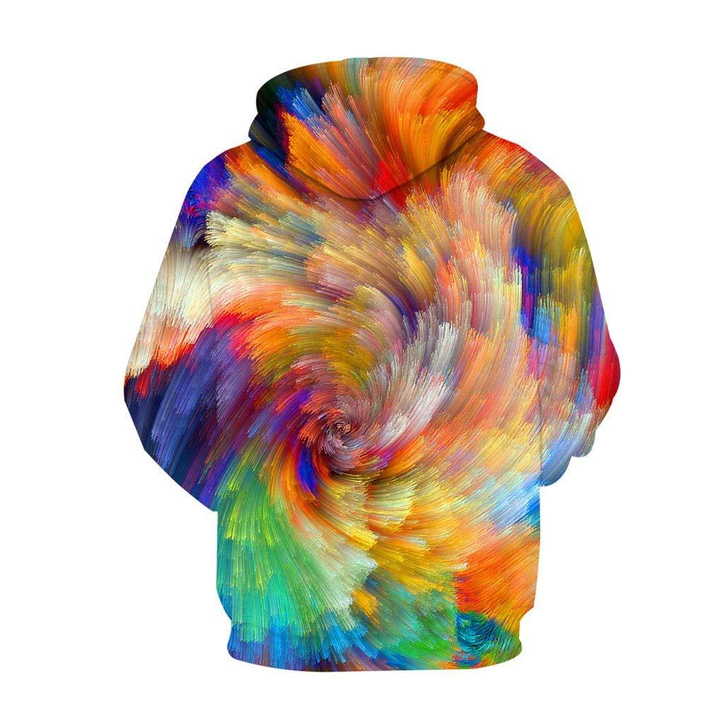 baskuwish Unisex Space Galaxy 3D Sweatshirts Casual Sports Hoodies with Hat Mens Hoodie Hooded Loose Long Sleeve Tops