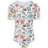 Adult Baby Onesie Diaper Lover (ABDL) Snap Crotch Romper Onesie Pajamas -  Small Rocket f153fab63