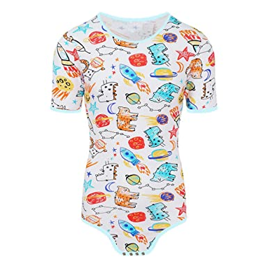 Amazon.com  Adult Baby Onesie Diaper Lover (ABDL) Snap Crotch Romper Onesie  Pajamas - Small Rocket (s)  Clothing a96167e4c