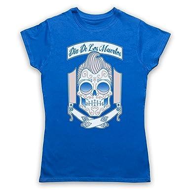 My Icon Art & Clothing Dia De Los Muertos Mexican Day Of The Dead Damen T- Shirt: Amazon.de: Bekleidung