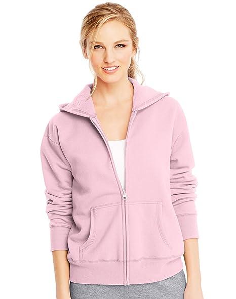 717bdad92b3 Hanes ComfortSoft EcoSmart Women s Full-Zip Hoodie Sweatshirt at Amazon  Women s Clothing store