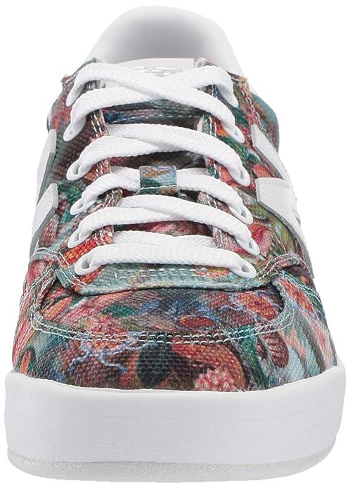 New Balance Women's 300v1 Court Sneaker PrintWhite 8 B US