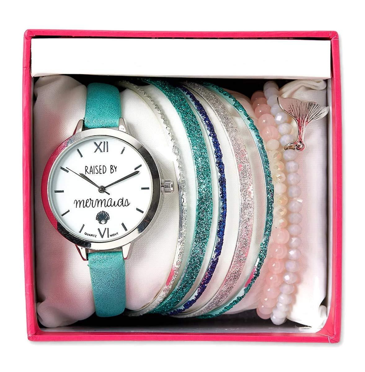 Justice Raised by Mermaids Watch & Bracelet Set