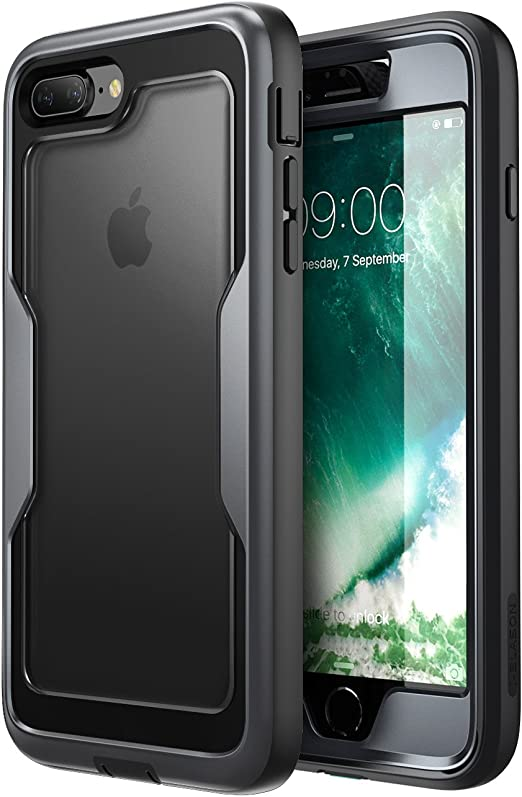 i-Blason Funda iPhone 7 Plus 8 Plus [Magma] 360 Grados Carcasa para Apple iPhone 8 Plus/iPhone 7 Plus Negro: Amazon.es: Electrónica