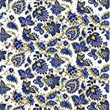 Paisley Design Blues Fused Glass or Ceramics
