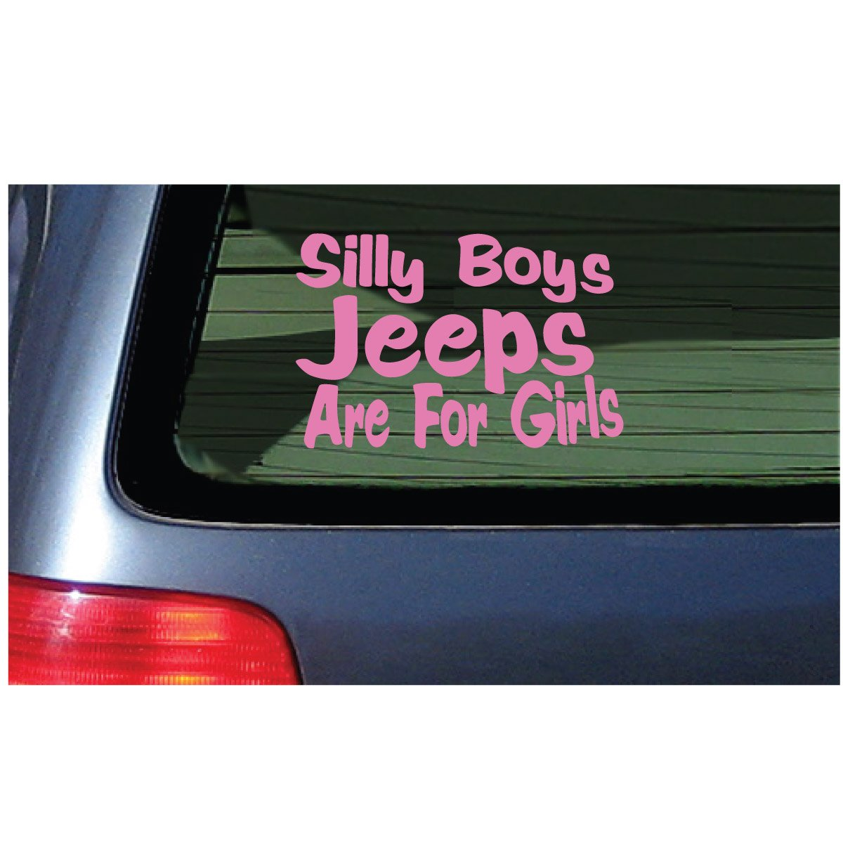 Amazon com silly boys jeeps are for girls vinyl decal sticker jeep fun pink automotive