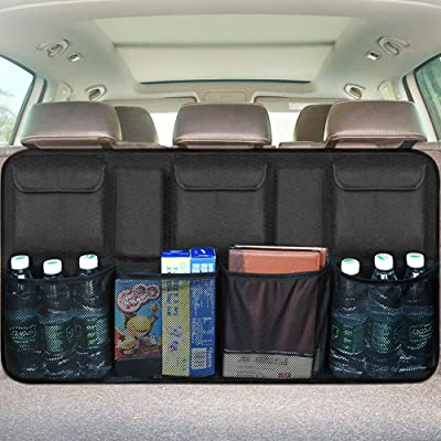 Car Backseat Trunk Organizer, Trunk Organizers Backseat Storage for Car,Truck, SUV, Van Organizers Back Seat Mesh Pockets: Automotive
