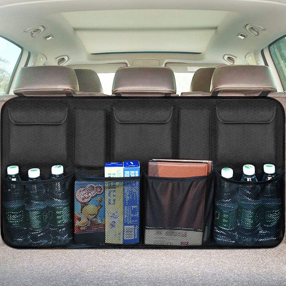 FH Group FH1132 E-Z Travel Car Side Organizer Car Backseat Organizer with 3 Mesh Pockets