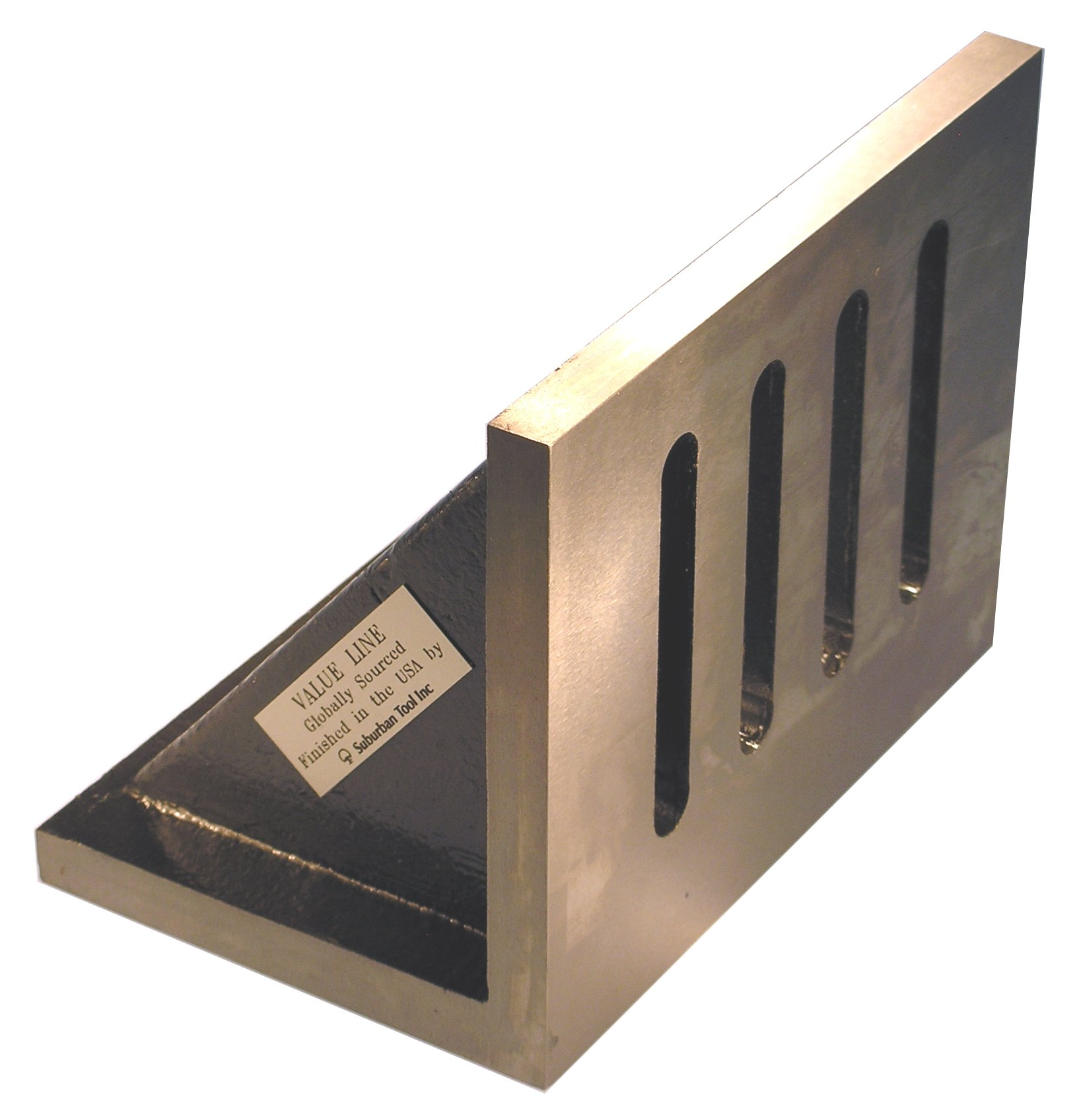Value Line 9 x 7 x 6 Slotted Angle Plate - Webbed - Ground by Suburban Tool