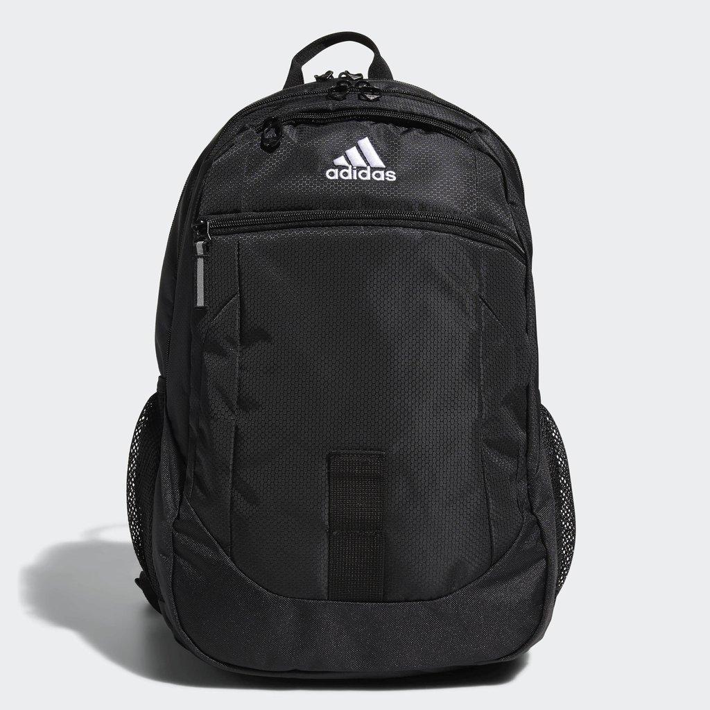 adidas Unisex Foundation Backpack, Black/White, ONE SIZE by adidas