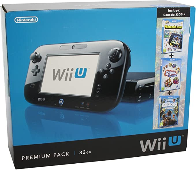 Nintendo Wii U - Consola Negra 32 GB + Premium Triple Pack 6: Amazon.es: Videojuegos
