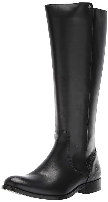 ed70f76865b FRYE Women s Melissa Stud Back Zip Equestrian Boot Black Extended 5.5 ...