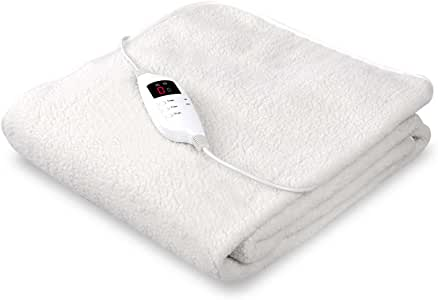 Giselle Bedding Fleecy Electric Blanket Heated Fully Fitted Washable Fleece Underlay Single Bed