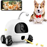AJK Smart Pet Camera,Dog Treat Dispenser,WiFi Pet Monitor,1080P Night Vision,2 Way Audio and Video Tossing Feeder by iOS App