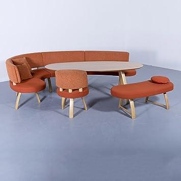 Wunderbar K+W SiLaxx Sitzgruppe Orange Stoff Holz Eck Bank Stuhl Bank Holz Tisch  Modern #