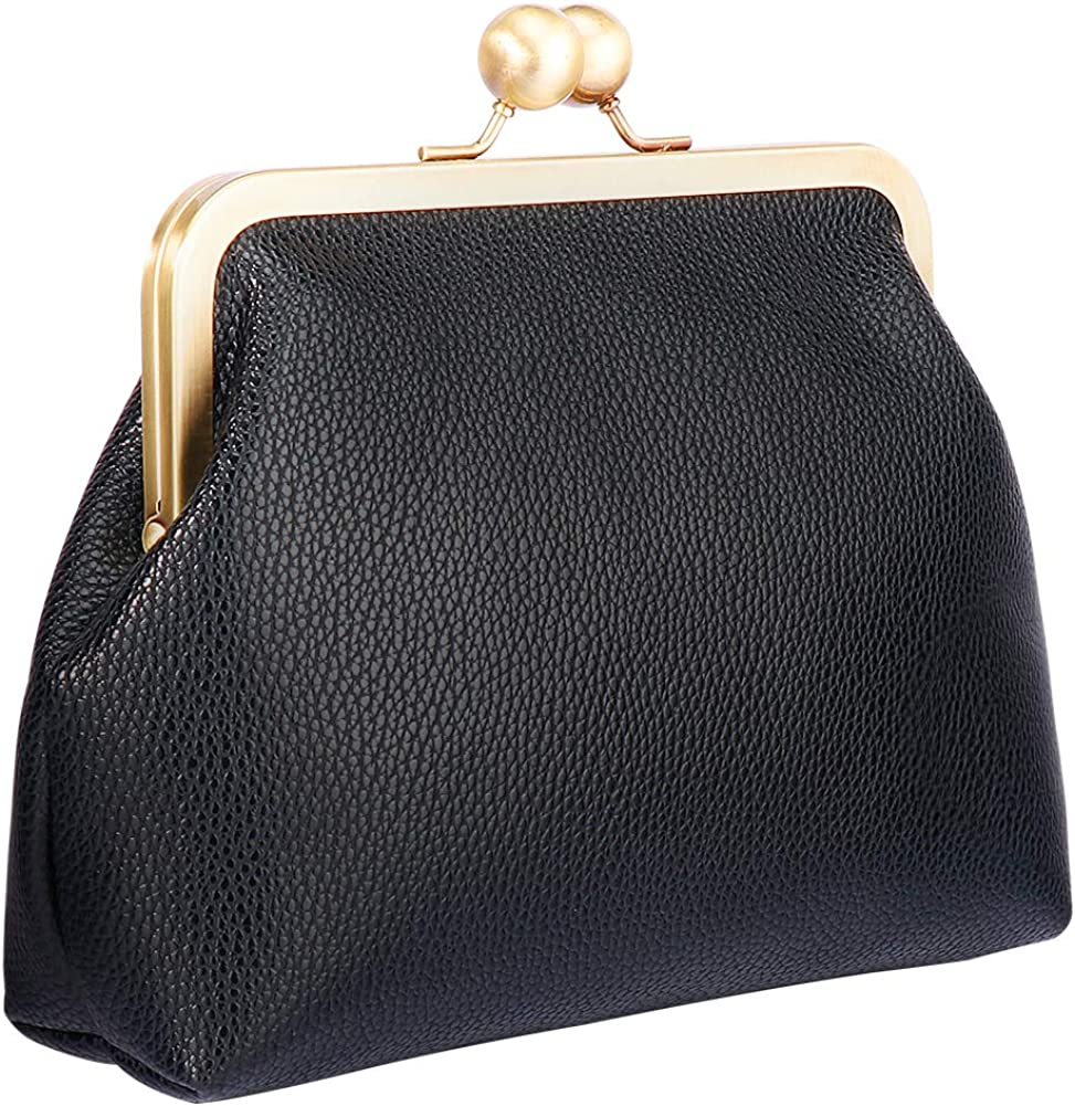 Kiss Lock Clutch Purse Vintage Womens Handbag Evening Bag Party Wallets