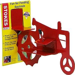 Stokes Select Tractor Cob Squirrel Feeder, Red, 2 Corn Cob Capacity