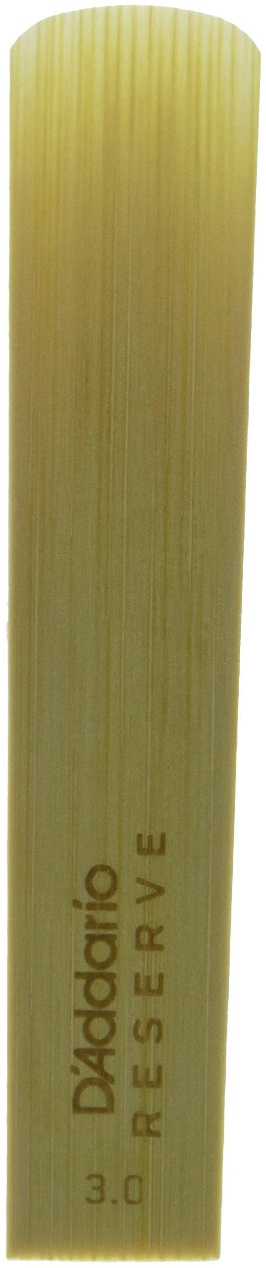 D'Addario Reserve Baritone Saxophone Reeds, Strength 3, 5 pack