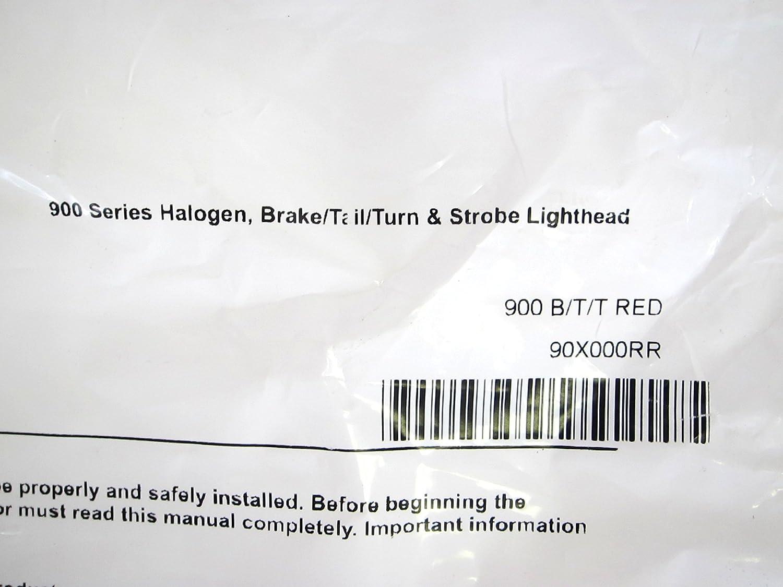 Whelen 90X000RR 900 Series Halogen Brake Tail Turn Strobe Lighthead 900 B//T//T Red