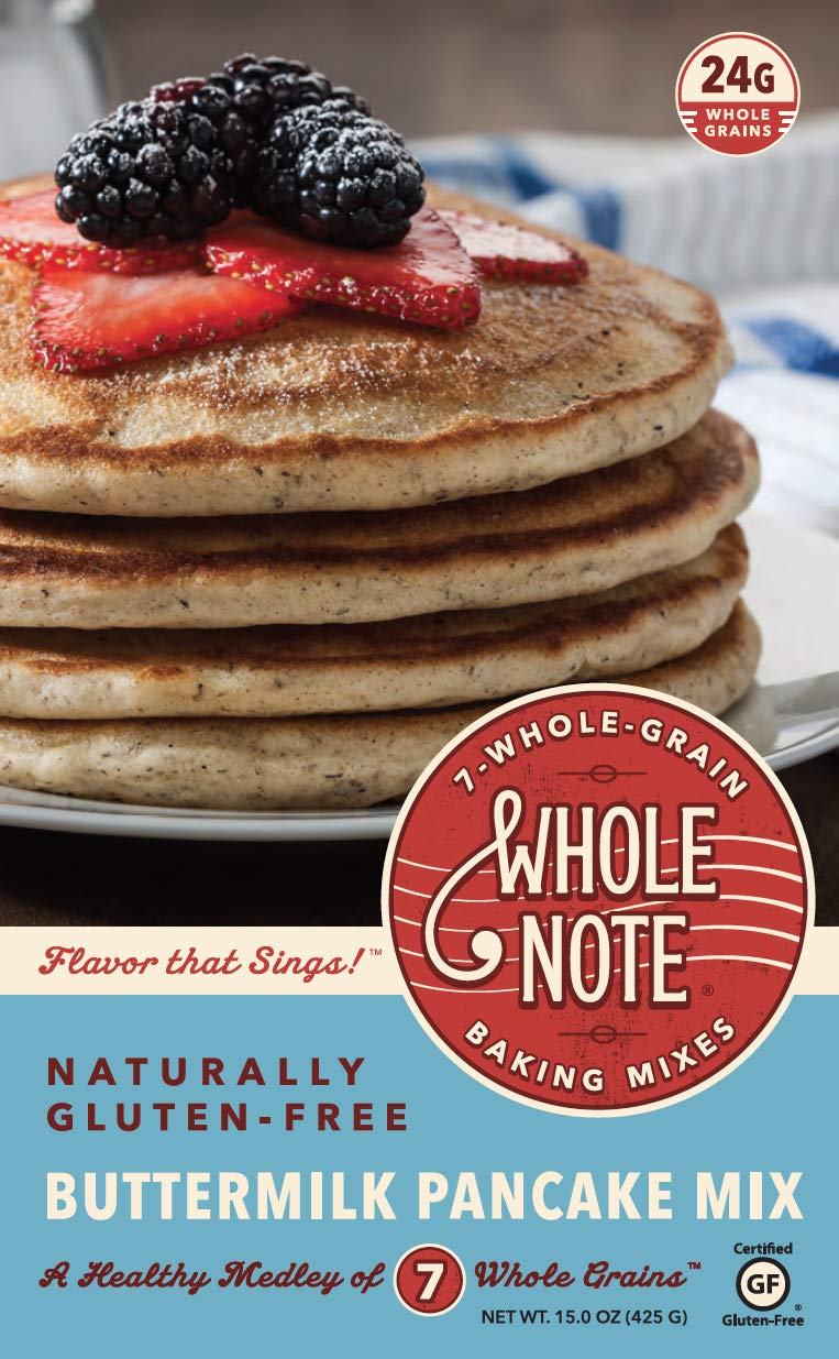 Whole Note Buttermilk Pancake Mix, 7-Whole-Grain and Naturally Gluten-Free (Pack of 3)