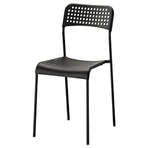 Ikea ADDE Chair Black Indoor/Outdoor Back Rest