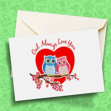 Owl print owl always love you greeting card birthday gift card owl print owl always love you greeting card birthday gift card for loved m4hsunfo
